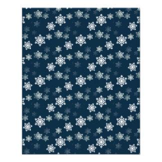 Midnight Blue Snow Flurries Flyer
