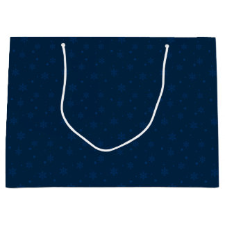 Midnight Blue Snowflakes Large Gift Bag