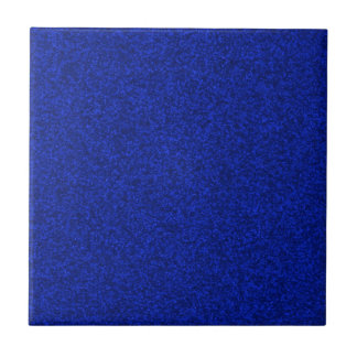 Midnight Blue Sparkly Bits Small Square Tile