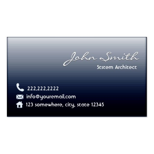 Midnight Blue System Architect Business Card