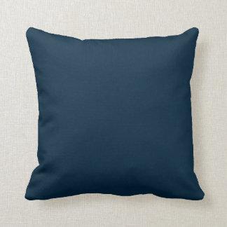 Midnight Blue Velvet Throw Pillow