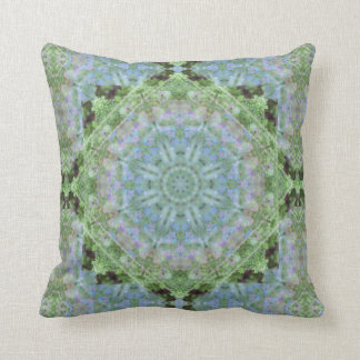 Midnight Blue Violet Mandala Throw Pillow