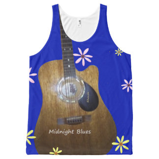 Midnight Blues. All-Over Print Tank Top