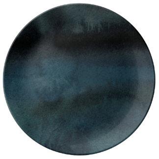 Midnight blues porcelain plates