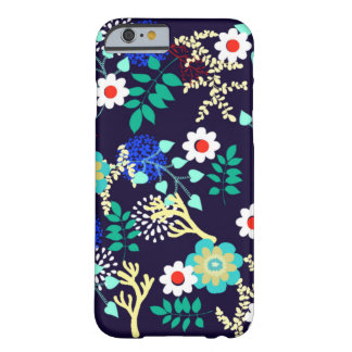 Midnight Botanical - Dark Abstract Floral Pattern Barely There iPhone 6 Case