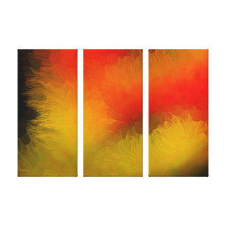 Midnight Bright Abstract Canvas Print