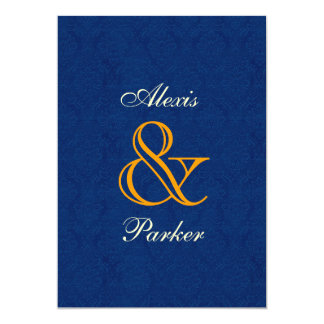 Midnight Damask Wedding R107 13 Cm X 18 Cm Invitation Card