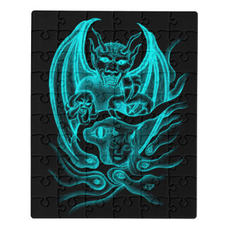 Midnight Dream - Devils in Tattoo-style Jigsaw Puzzle