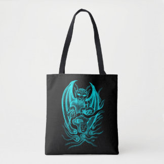 Midnight Dream - Devils in Tattoo-style Tote Bag
