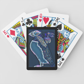 Midnight Flapping Puffin Bicycle Playing Cards