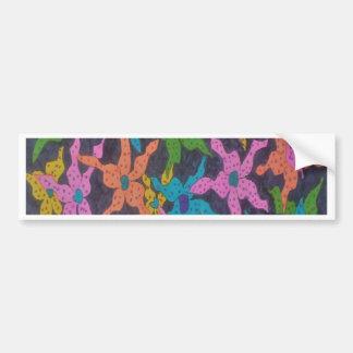 Midnight Floral Bouquet Bumper Sticker
