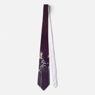 Midnight Flower Tie