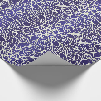 Midnight Flowers Pattern Wrapping Paper