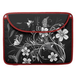 Midnight Garden Butterflies  Rickshaw Flap Sleeve Sleeves For MacBook Pro