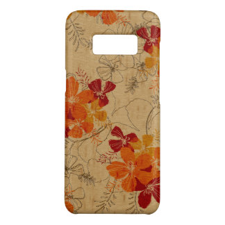 Midnight Garden Hawaiian Faux Wood Red Case-Mate Samsung Galaxy S8 Case