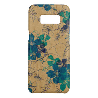 Midnight Garden Hawaiian Faux Wood Turquoise Case-Mate Samsung Galaxy S8 Case