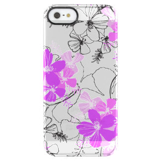 Midnight Garden Hawaiian Hibiscus Clear iPhone SE/5/5s Case