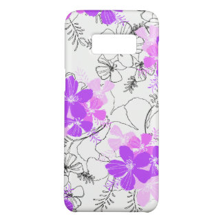 Midnight Garden Hawaiian Hibiscus Floral Violet Case-Mate Samsung Galaxy S8 Case