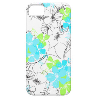 Midnight Garden Hawaiian Hibiscus iPhone 5 Cases