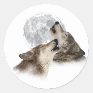Midnight Howling Classic Round Sticker