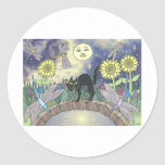 Midnight in the Garden of Dragonflies Round Sticker