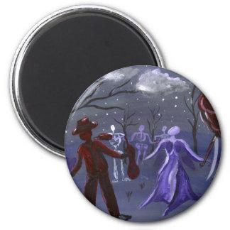 Midnight Jazz Band gothic music band magnet 2 Inch Round Magnet