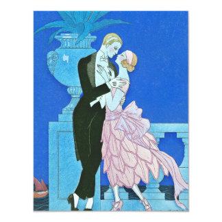 Midnight Kiss Art Deco Invitations