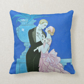 Midnight Kiss Art Deco Throw Pillow Cushions