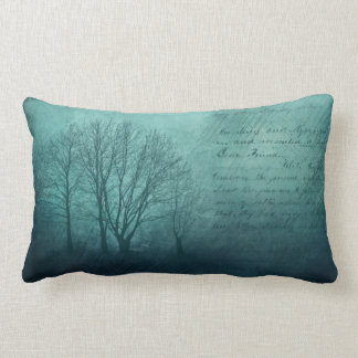 Midnight Letter Bare Trees Throw Pillow
