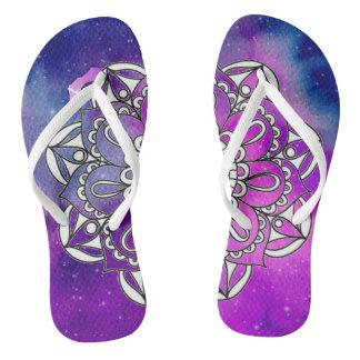 Midnight Mandala Walk Thongs