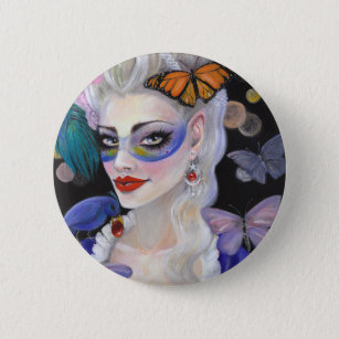 Midnight Masquerade Fairy 6 Cm Round Badge