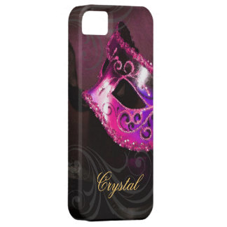 Midnight Masquerade Pink Fantasy Iphone Five Case