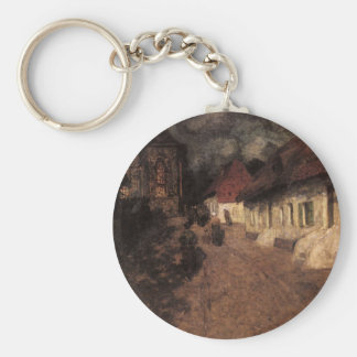 Midnight Mass by Frits Thaulow Key Ring