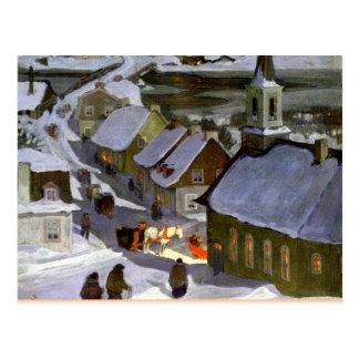 Midnight Mass, fine art painting Postcard