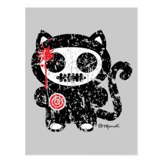 Midnight  Meow Postcard