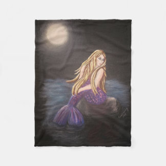 Midnight Mermaid Fleece Blanket