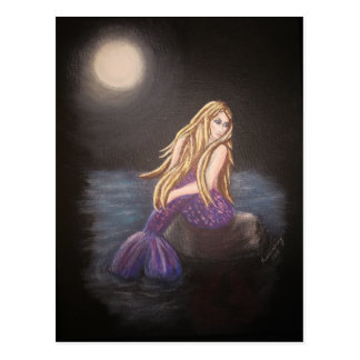 Midnight Mermaid Postcard