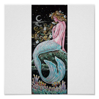 MIDNIGHT MERMAID POSTER