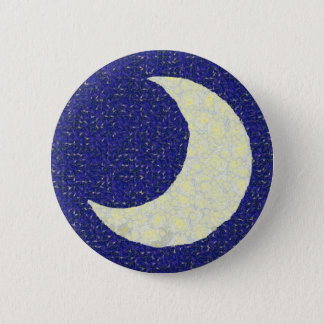 Midnight Moon 6 Cm Round Badge