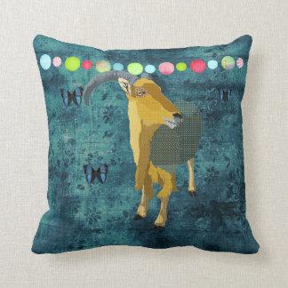 Midnight Moonlight Aoudad  Mojo Pillow Throw Cushion