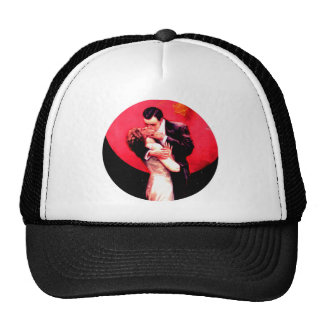 Midnight Moonlight Art Deco Lady Fairy Romance Mesh Hats