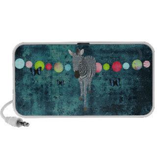 Midnight Moonlight Zebra Doodle Speaker