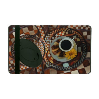 Midnight Never Ends, a Red Checkered Diner Fractal iPad Case