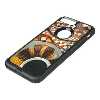 Midnight Never Ends, a Red Checkered Diner Fractal OtterBox Commuter iPhone 8 Plus/7 Plus Case