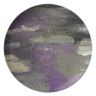 Midnight on Canvas Plate