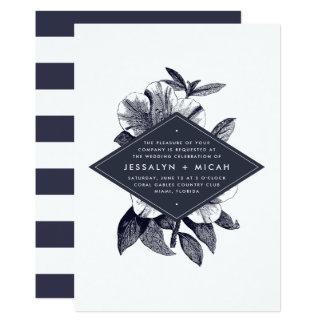 Midnight Orchid Wedding Invitation