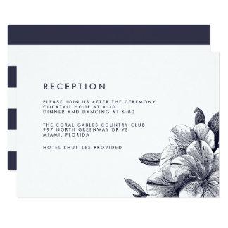 Midnight Orchid Wedding Reception Card 9 Cm X 13 Cm Invitation Card