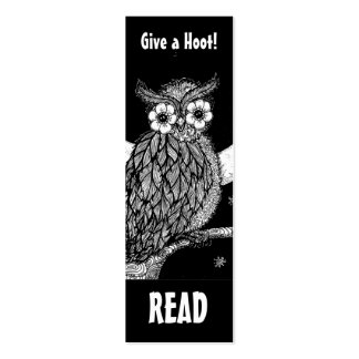 Midnight Owl Book Mark Pack Of Skinny Business Cards