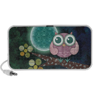 Midnight Owl Doodle Speakers