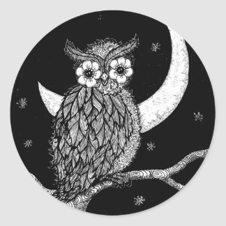 Midnight Owl Stickers